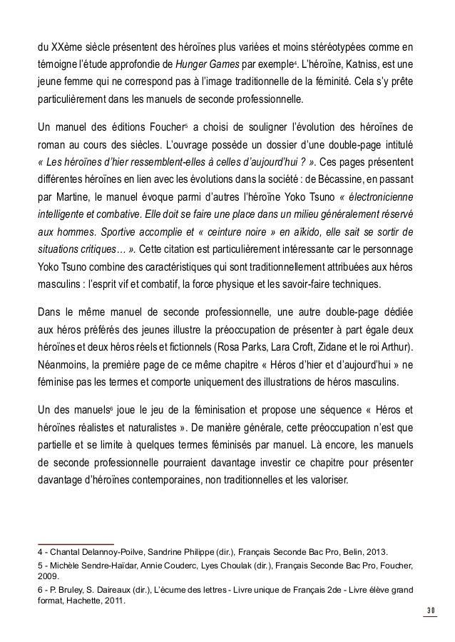 La Representation Des Femmes Dans Les Manuels De Francais