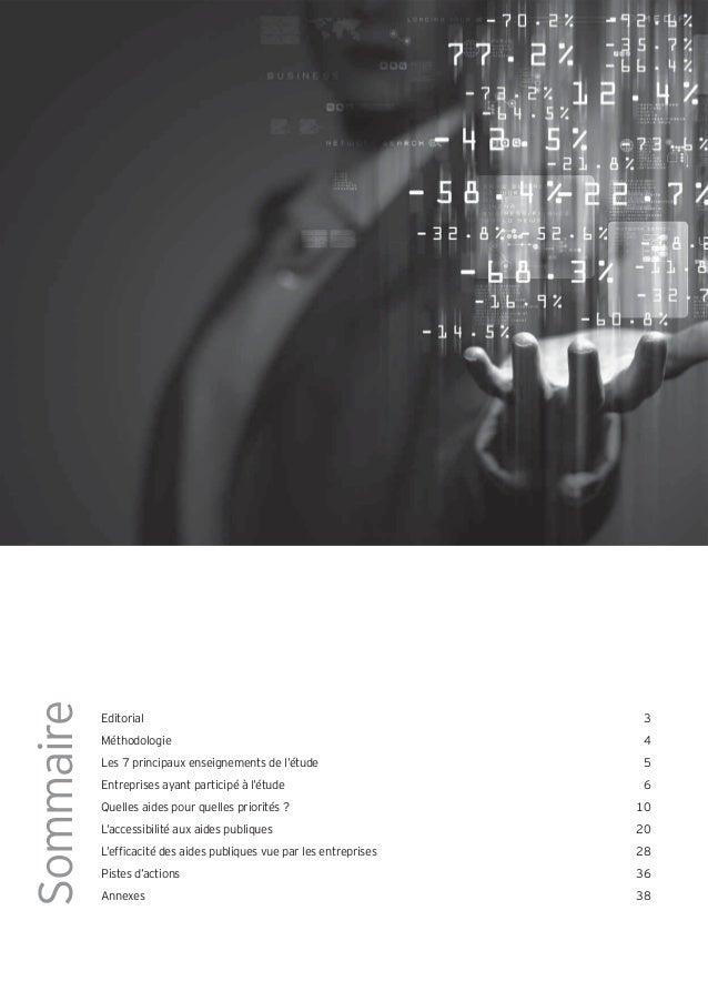 Sommaire           Editorial                                               3           Méthodologie                       ...