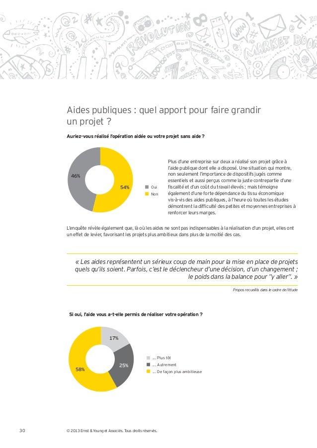 Aides publiques : quel apport pour faire grandir     un projet ?     Auriez-vous réalisé l'opération aidée ou votre projet...
