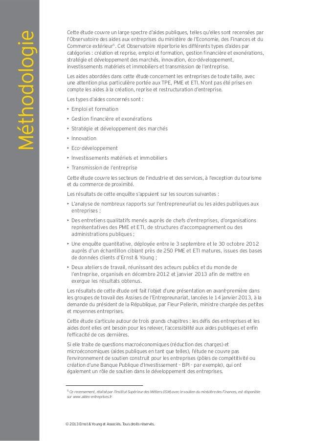 Méthodologie   Cette étude couvre un large spectre d'aides publiques, telles qu'elles sont recensées par               l'O...