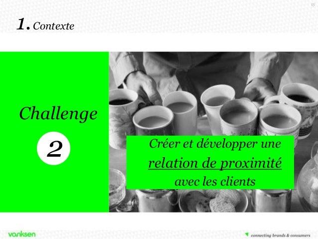 15  1. Contexte  Challenge  2  Comment développer une Créer et développer une relation de relation de proximité proximité ...
