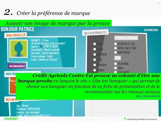 25  2.  Créer la préférence de marque  Asseoir son image de marque par la preuve  Crédit Agricole Centre Est prouve sa vol...
