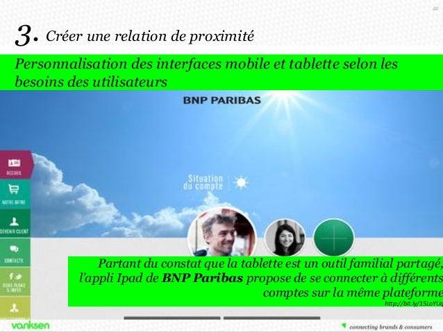 42  3. Créer une relation de proximité Personnalisation des interfaces mobile et tablette selon les besoins des utilisateu...