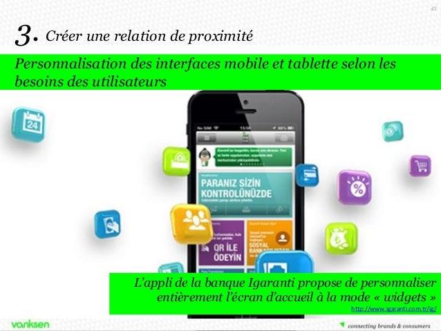 43  3. Créer une relation de proximité Personnalisation des interfaces mobile et tablette selon les besoins des utilisateu...