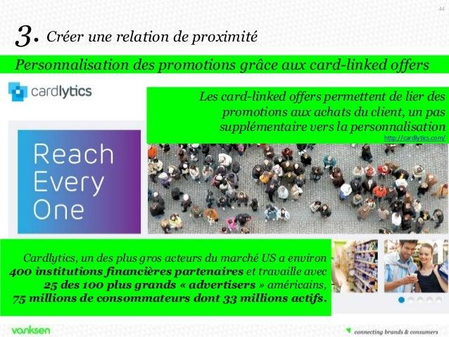 44  3. Créer une relation de proximité Personnalisation des promotions grâce aux card-linked offers Les card-linked offers...