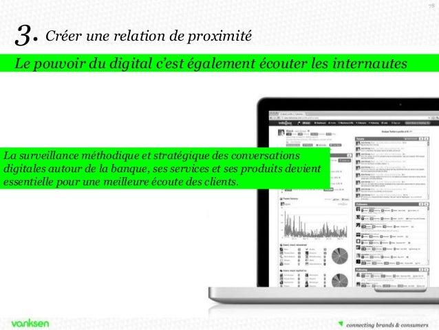 78  3. Créer une relation de proximité Le pouvoir du digital c'est également écouter les internautes  La surveillance méth...