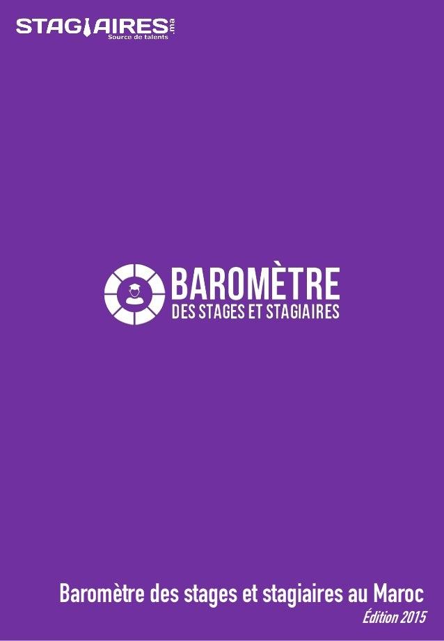 Baromètre des stages et stagiaires au Maroc Édition 2015