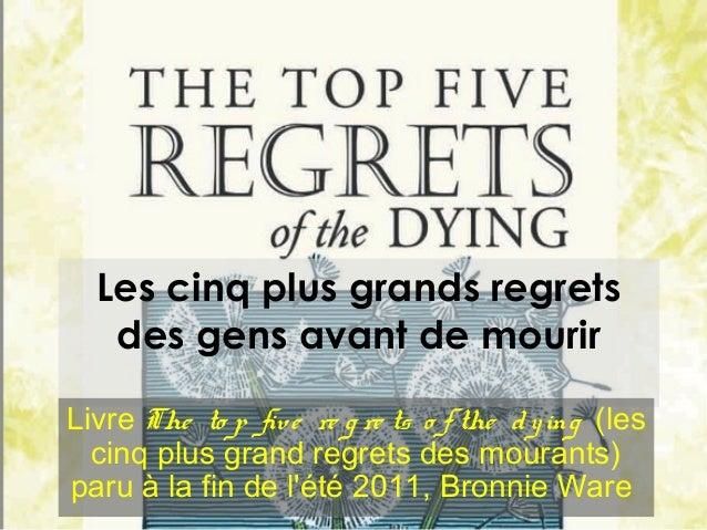 Etude bonnie  ware_regret Slide 2