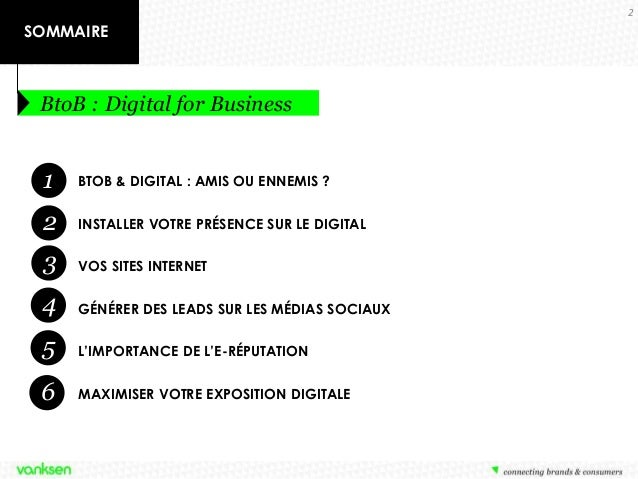 BtoB : Digital for Business - Utiliser les forces du digital pour générer des leads BtoB Slide 2
