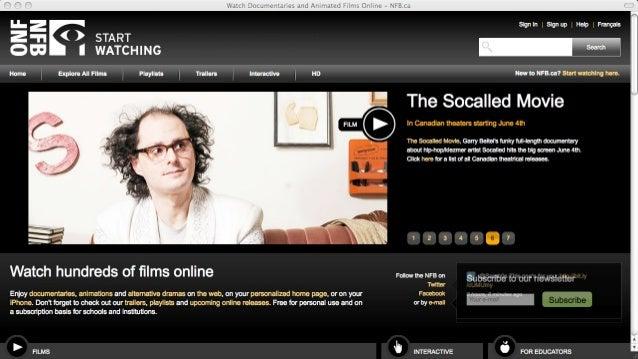 Étude de cas: scénarisation du documentaire interactif Sacrée montagne - ONF.ca Slide 2