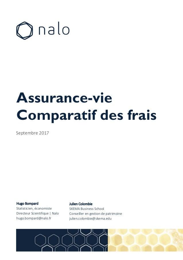 Assurance Vie Comparatif Des Frais