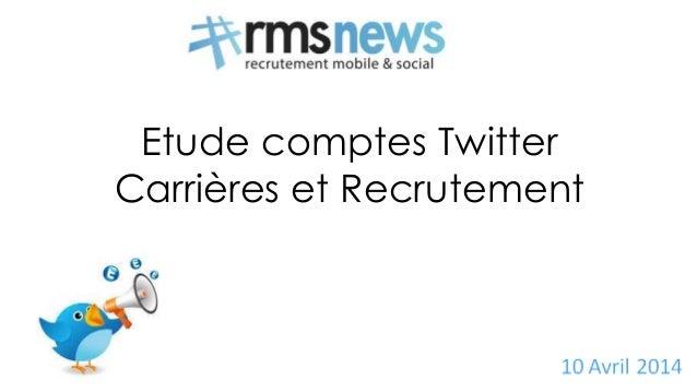 Etude comptes Twitter Carrières et Recrutement