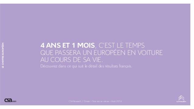 LECHIFFREEUROPÉEN 4 ANS ET 1 MOIS, C'EST LE TEMPS QUE PASSERA UN EUROPÉEN EN VOITURE AU COURS DE SA VIE. Découvrez dans ce...