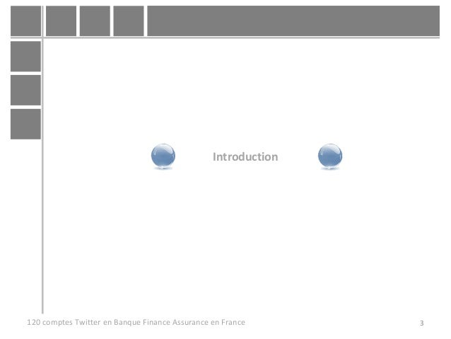 3120 comptes Twitter en Banque Finance Assurance en France Introduction