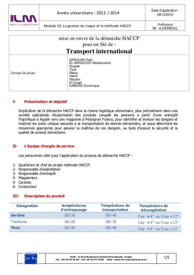 1/5IILM : 12 Rue Mohamed Yahmid Fahsi Nazaha. Tanger Tél. : 05 39 94 65 00- Fax: 05 39 93 78 86 - Web : www.ilm-internatio...