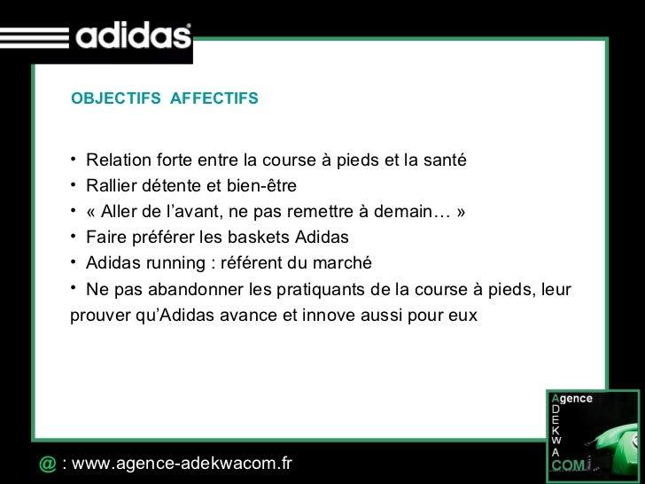 30 Octobre 07 @  : www.agence-adekwacom.fr <ul><li>Relation forte entre la course à pieds et la santé </li></ul><ul><li>Ra...