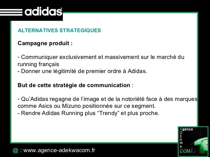 30 Octobre 07 @  : www.agence-adekwacom.fr ALTERNATIVES STRATEGIQUES <ul><li>Campagne produit :   </li></ul><ul><li>Commun...
