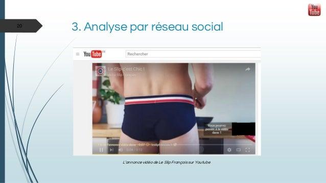 3. Analyse par réseau social L'annonce vidéo de Le Slip Français sur Youtube 20