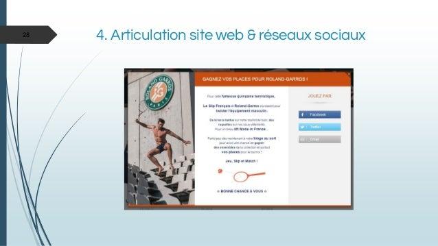4. Articulation site web & réseaux sociaux28