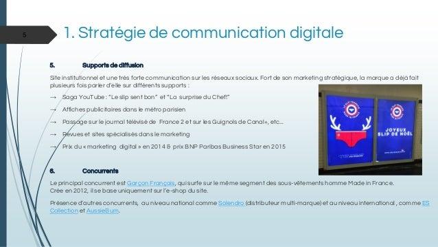 5. Supports de diffusion Site institutionnel et une très forte communication sur les réseaux sociaux. Fort de son marketin...