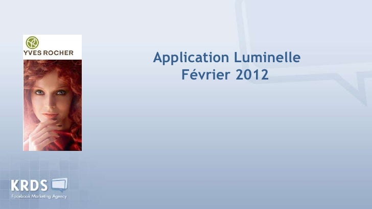 Application Luminelle    Février 2012