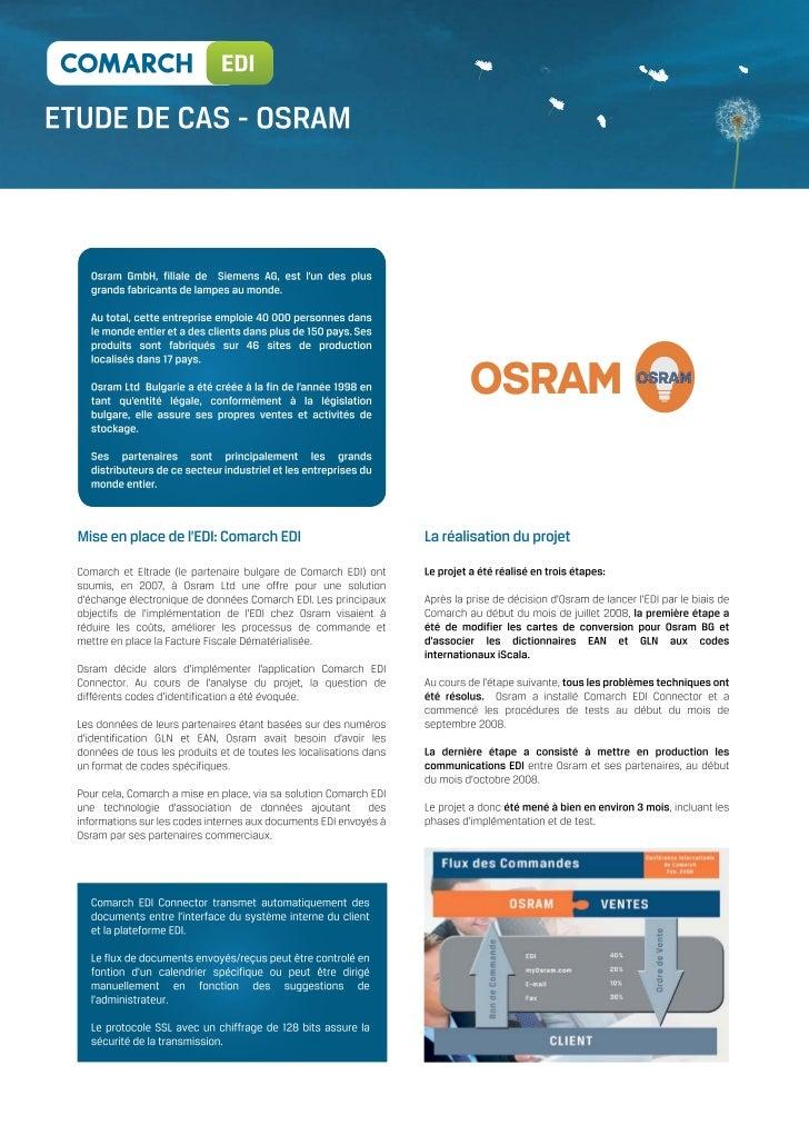 OSRAM optimise son EDI avec Comarch