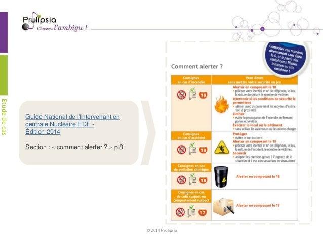 Etude de cas Prolipsia - consignes sécurité - edf Slide 2
