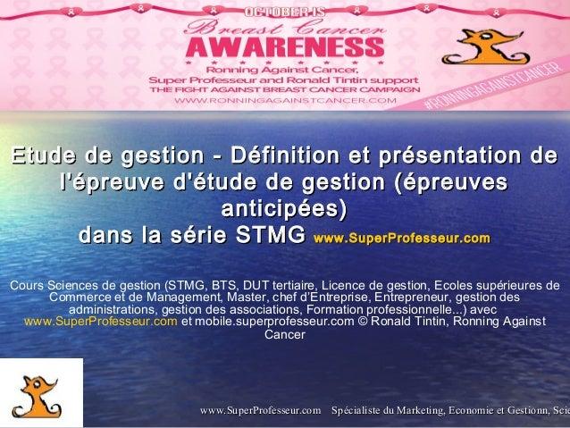 www.SuperProfesseur.com Spécialiste du Marketing, Economie et Gestionn, Sciewww.SuperProfesseur.com Spécialiste du Marketi...