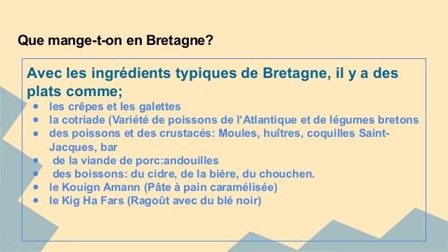 Etude de march cuisine italienne et bretonne - Entree bretonne typique ...
