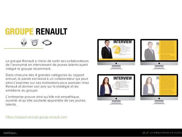 2 4 24 Le groupe Renault a choisi de sortir ses collaborateurs de l'anonymat en interviewant de jeunes talents ayant intég...