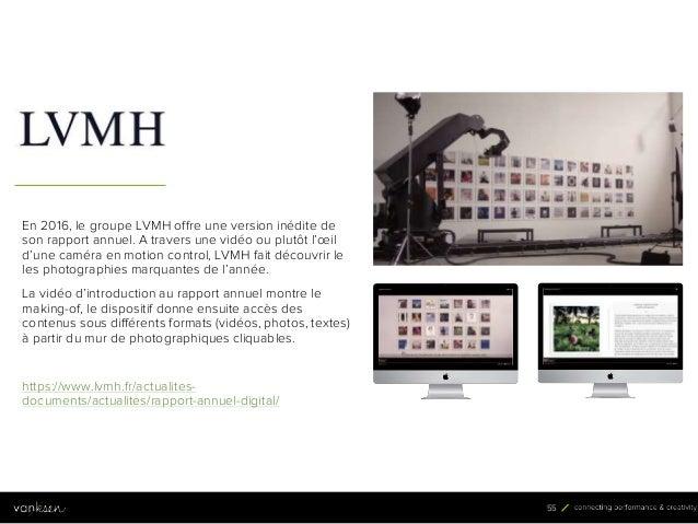 5 5 55 En 2016, le groupe LVMH offre une version inédite de son rapport annuel. A travers une vidéo ou plutôt l'œil d'une ...