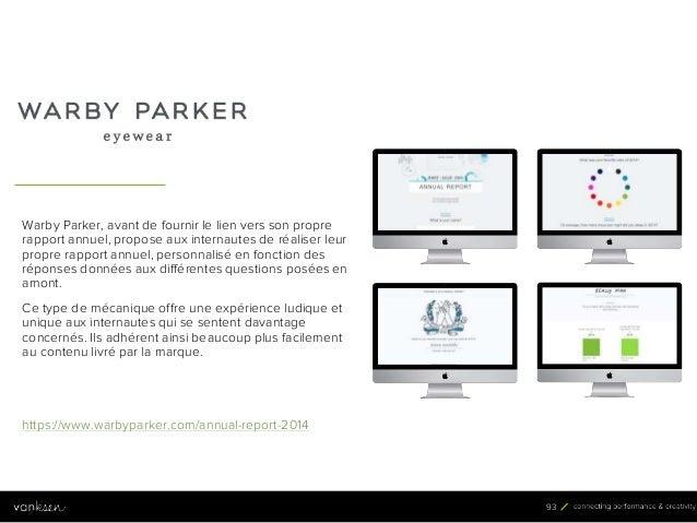9 3 93 Warby Parker, avant de fournir le lien vers son propre rapport annuel, propose aux internautes de réaliser leur pro...