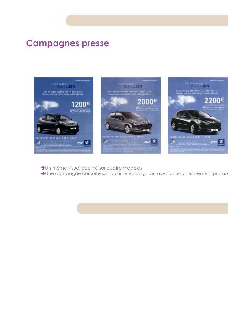 Campagnes presse   Un même visuel décliné sur quatre modèles   Une campagne qui surfe sur la prime écologique, avec un enc...