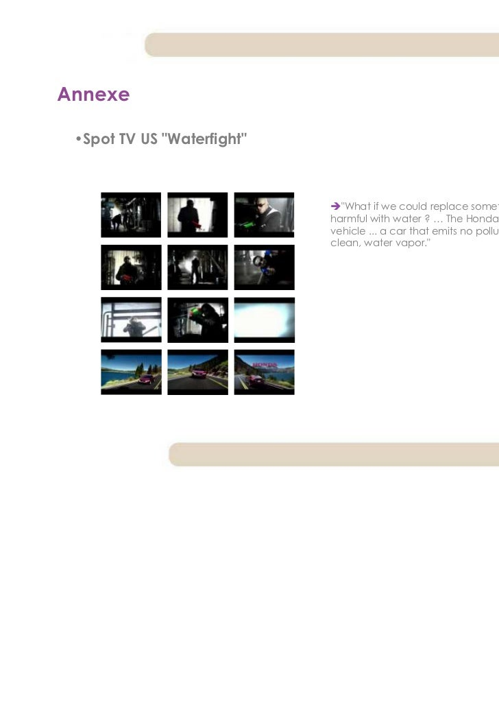 """Annexe •Spot TV US """"Waterfight""""                              """"What if we could replace something                          ..."""