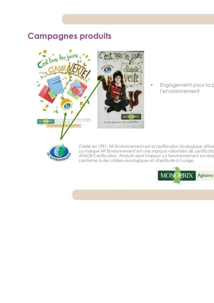 Campagnes produits                                                •    Engagement pour la protection de                   ...