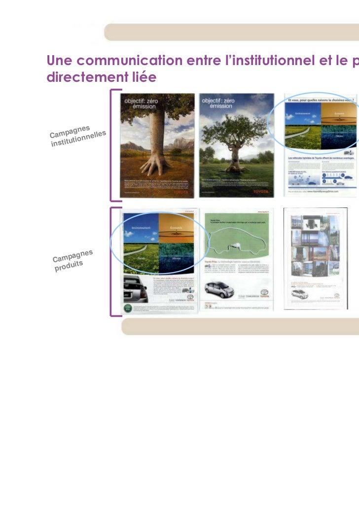 Une communication entre l'institutionnel et le produit maisdirectement liée            s       agneCamp ionnelles      uti...
