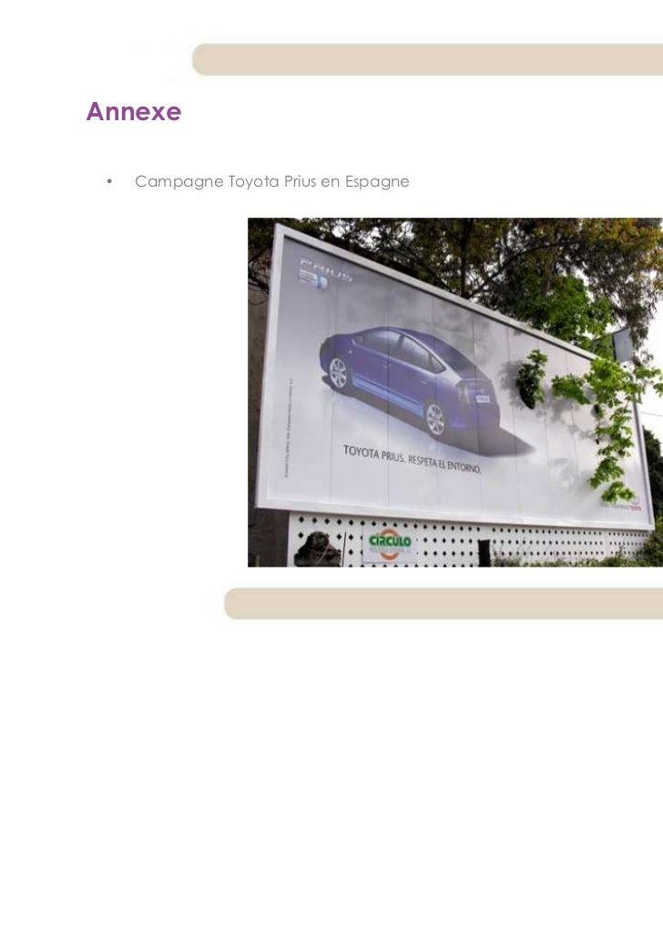Annexe •   Campagne Toyota Prius en Espagne