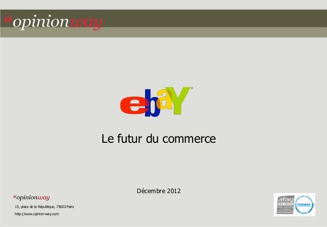 Le futur du commerce                                                Décembre 201215, place de la République, 75003 Parisht...