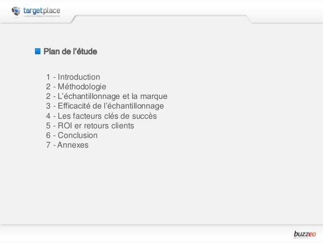 Enquête sur l'Échantillonnage dans les Plans Marketing Slide 2