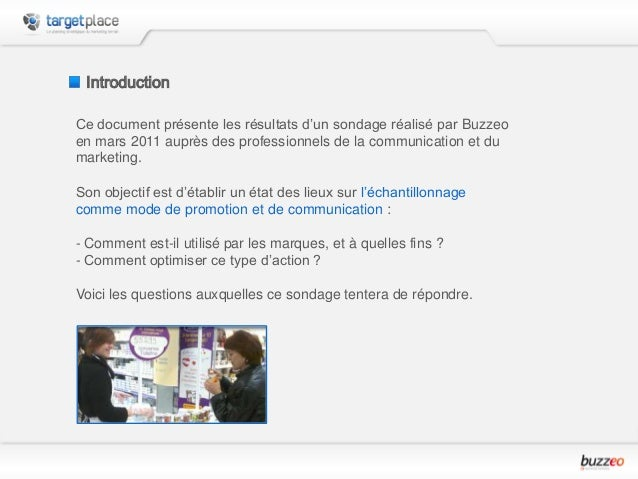 Enquête sur l'Échantillonnage dans les Plans Marketing Slide 3