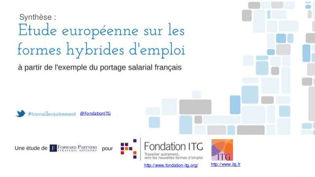 Synthèse :  @FondationITG  http://www.fondation-itg.org/  http://www.itg.fr