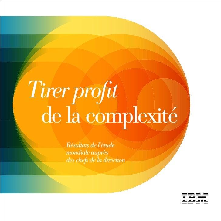 Etude IBM - Tirer Parti De La Complexité