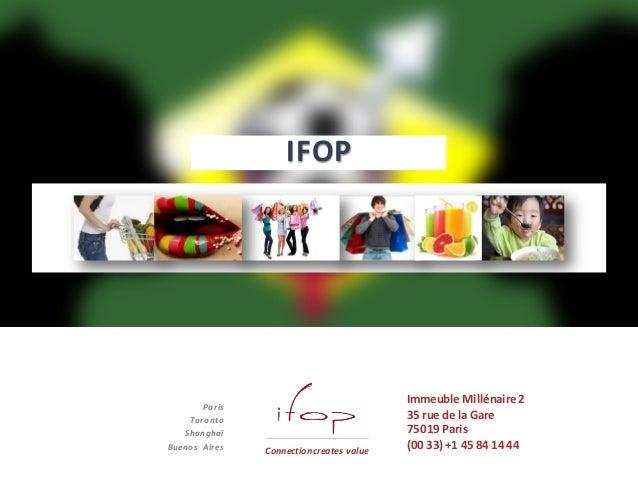 Connection createsvalue IFOP Paris Toronto Shanghaï Buenos Aires Connectioncreates value Immeuble Millénaire2 35 rue de la...