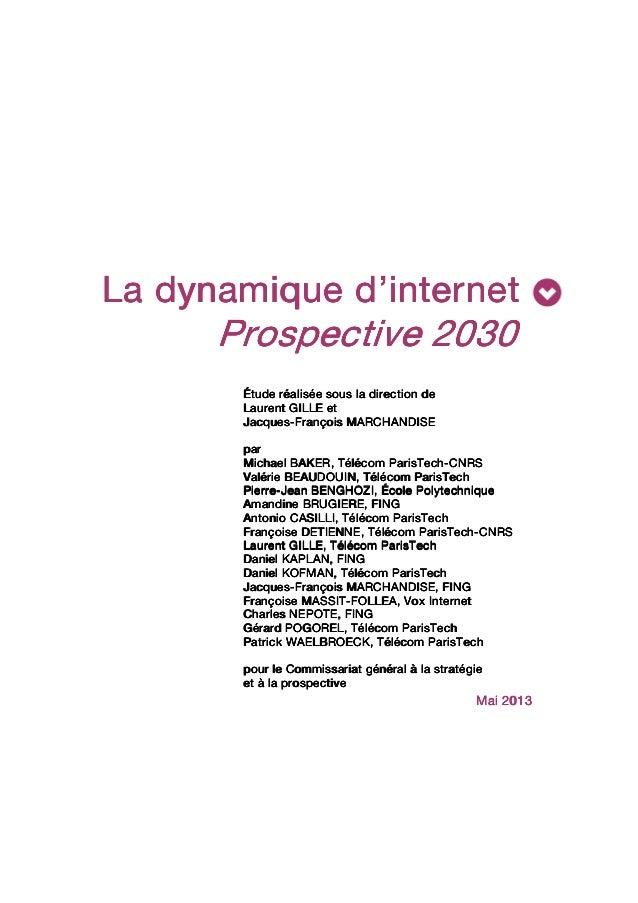Étude - La dynamique d'internet. Prospective 2030 Slide 3
