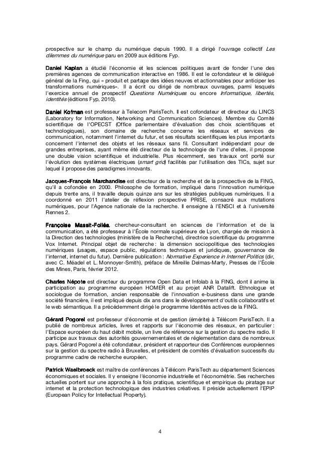 5 MéthodologieMéthodologieMéthodologieMéthodologie Ce rapport a été coécrit par quatorze spécialistes du monde de l'intern...