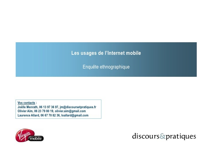 Etude internet mobile