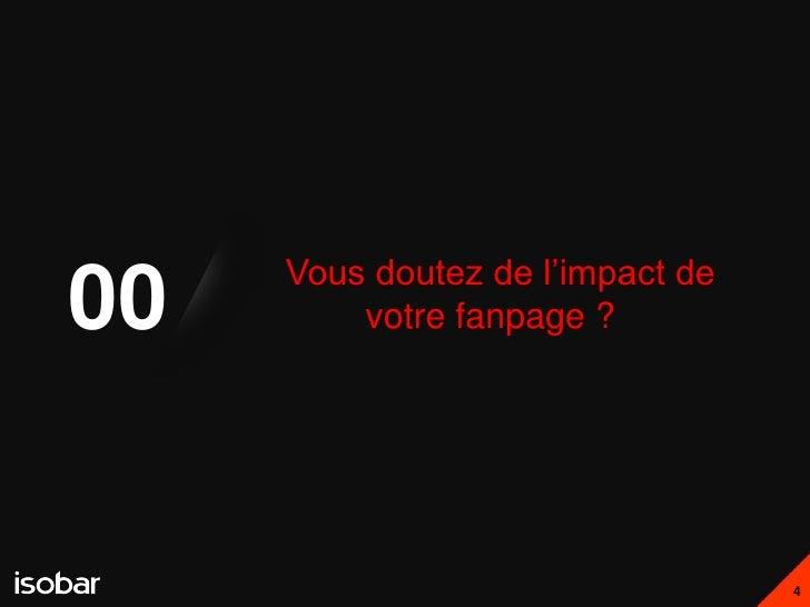 Vous doutez de l'impact de00       votre fanpage ?                                  4