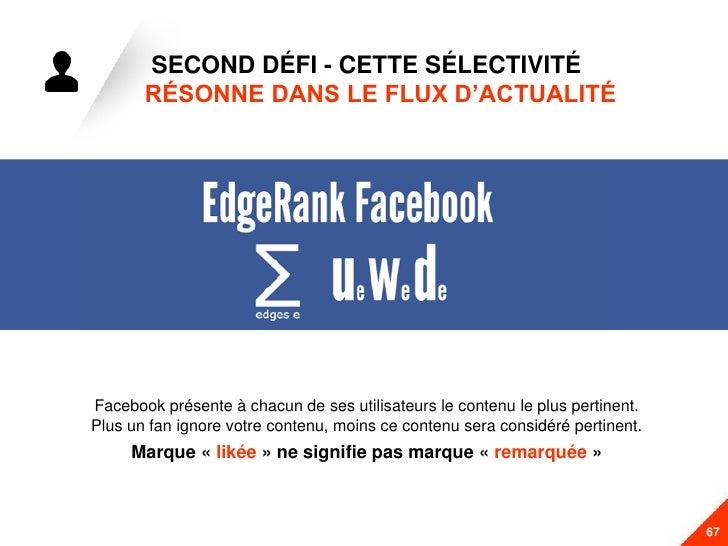 SECOND DÉFI - CETTE SÉLECTIVITÉ       RÉSONNE DANS LE FLUX D'ACTUALITÉFacebook présente à chacun de ses utilisateurs le co...