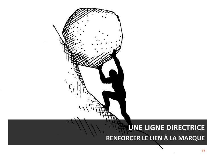 UNE LIGNE DIRECTRICERENFORCER LE LIEN À LA MARQUE                            77