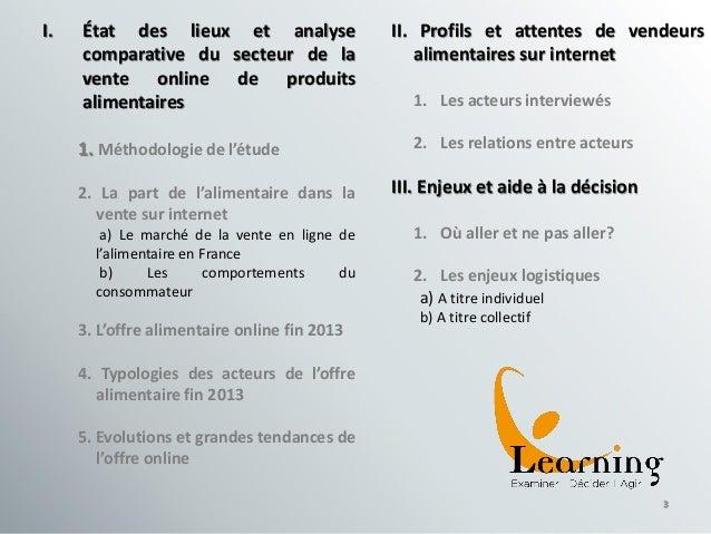 Caractéristiques et opportunités de la vente alimentaire via Internet Slide 3